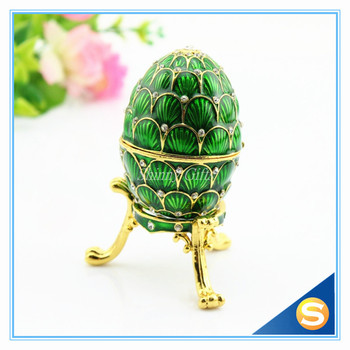 Online shop royal russian egg trinket box blue inspired russian hand painted vintage style faberge egg with rich enamel and sparkling rhinestones jewelry trinket box negle Gallery