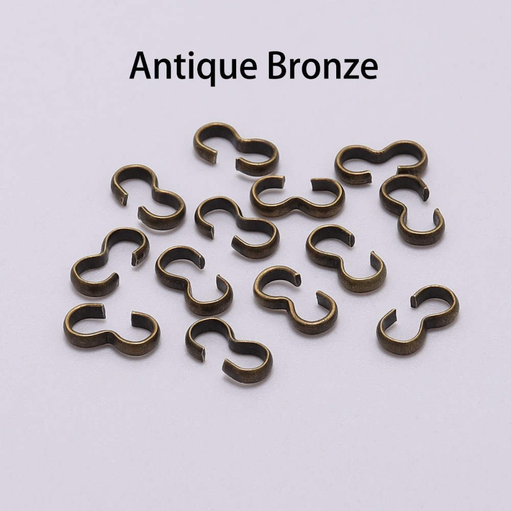 100pcs 4 8 mm Number quot 3 quot Ends Fastener Connectors Links Brass Rope Connect Clasps Closed Rings Supplies For DIY Jewelry Finding in Jewelry Findings amp Components from Jewelry amp Accessories