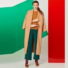 Bohoartist Women Coats Woolen Winter Women lapel Casual autumn outerwear 2017 Solid Long Sleeve Parka Cardigan Fashion Warm coat