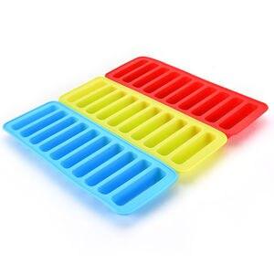Многоразовый цилиндрический 10 Силиконовый Лоток с формой для кубиков льда, ледяная форма для бутылки с водой, пудинг, желе, шоколад, печенья