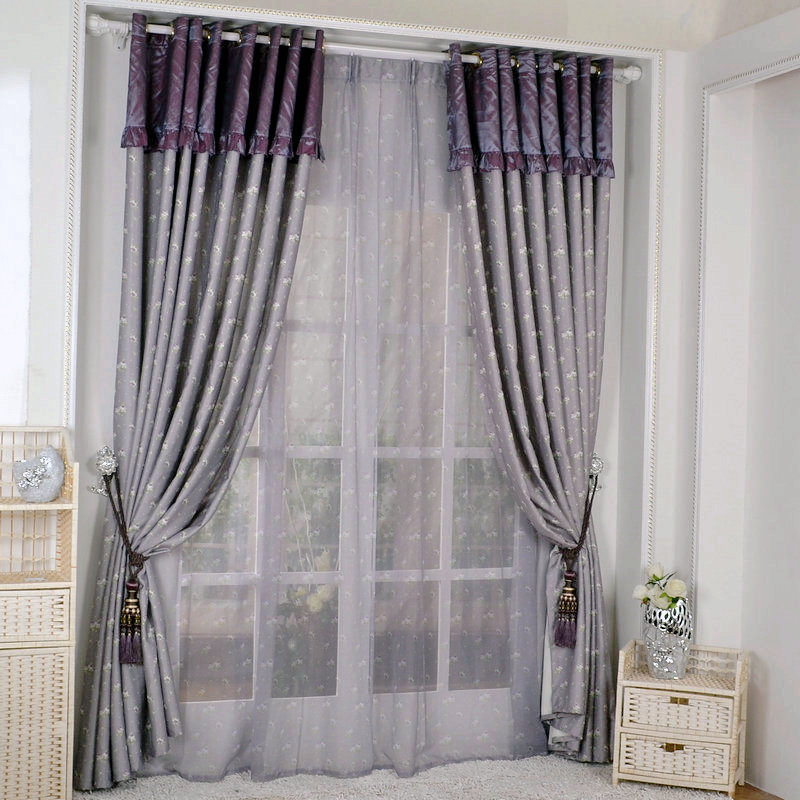 Ready Made Curtains Special Simple Home Small Floral Fabric Shading Finished Custom Fabric