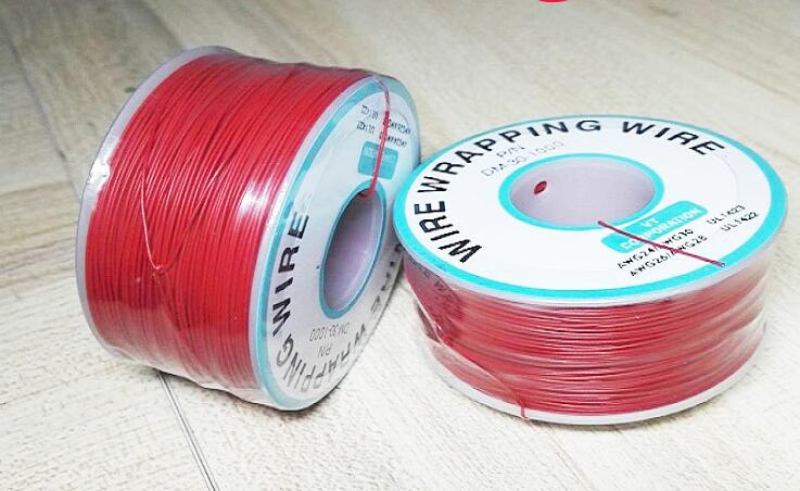 Free shipping 1roll/250M 30AWG Ok wire 30# jumper wire Flying lead single core tinned copper wire color option цены