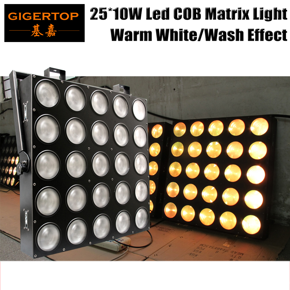 Freeshipping 25x10W Warm White 25 Head LED Pixel Audience Matrix Blinder Light/Slim Design 5*5 Professional Stage Effect Light