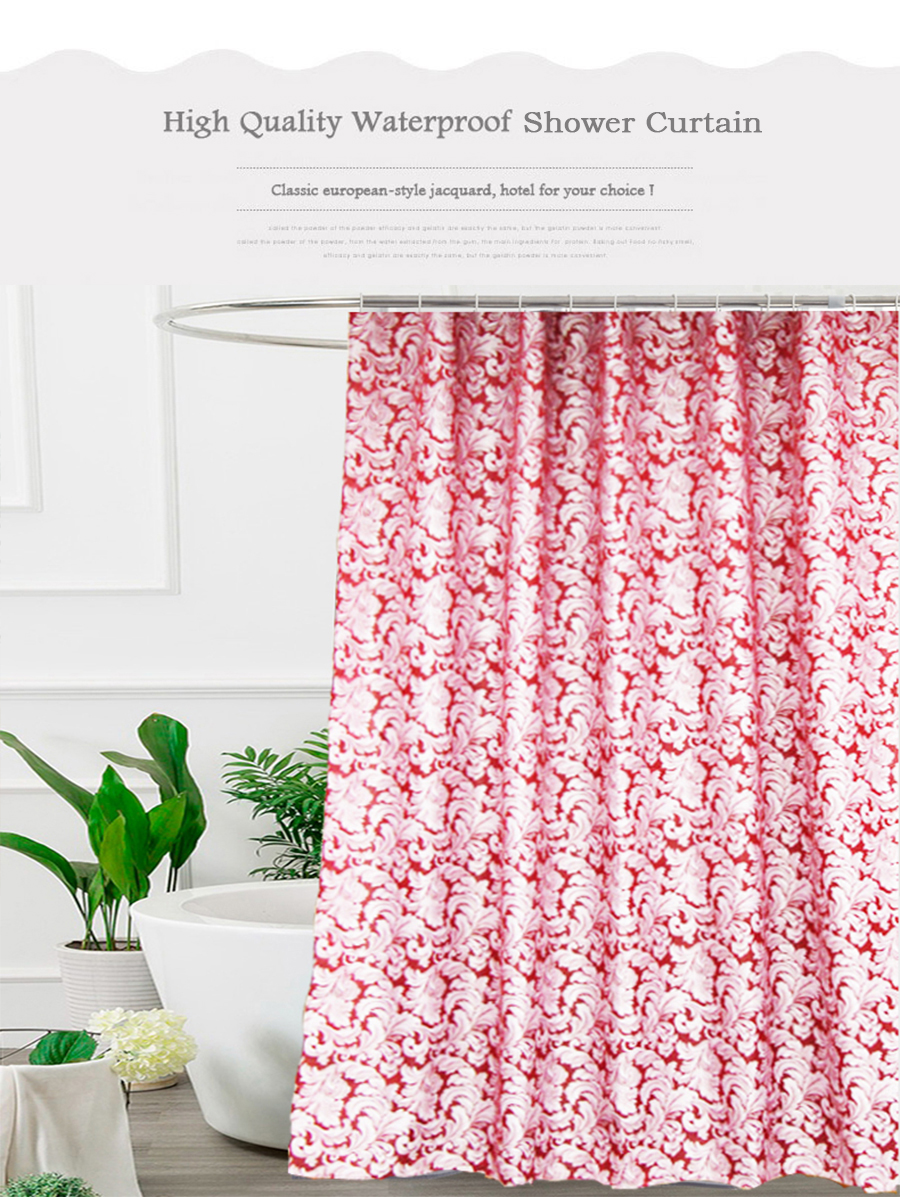 2019 Ufriday Waterproof Fabric Shower Curtain Leaves Jacquard Polyester Bathroom Shower Curtains European Elegant Thick Bath Curtain From Pont 32 96