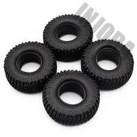 "4PCS 100MM 1.9"" Rubber Tyre / Wheel Tires for 1:10 RC Rock Crawler Axial SCX10 90046 90047 AXI03007 Tamiya CC01 D90 D110 TF2 2"