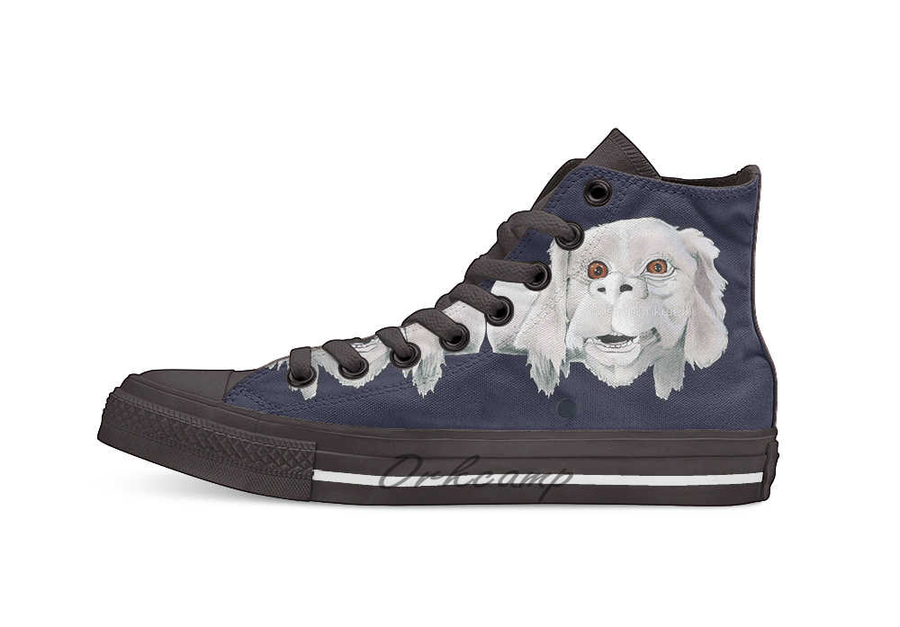Falkor Neverending Story Costume Shirt High Top Canvas Shoes Flat Casual Custom Unisex Sneaker Drop Shipping
