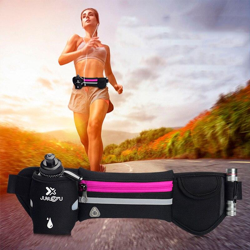 Walking Jogging Running Hydration Belt,Women Men Sport Running Hip Waist Bag,Waterproof Jogging Gym Waist Pack With Water Bottle