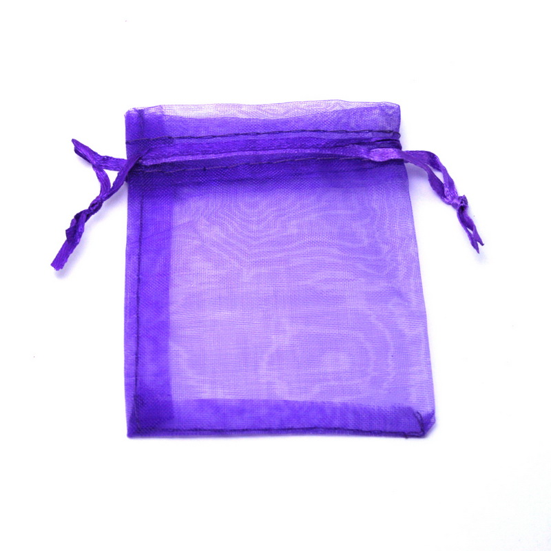Hot Dk Dark Purple Organza Bag 17x23cm Wedding Jewelry Packaging Pouches Nice Gift Bags 10pcs Lot In Display From