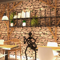 Beibehang 3D simulation stone rock wallpaper Featured Hotel clothing store bar KTV realistic stone stone brick 3d wallpaper roll