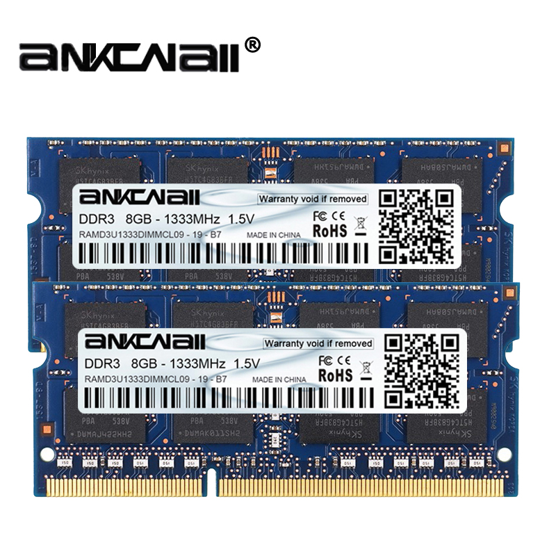 DDR3 RAM 8Gb 2pcs x 8GB 1333MHz 1600MHz PC3 10600 12800 For Intel Laptop Memory DIMM