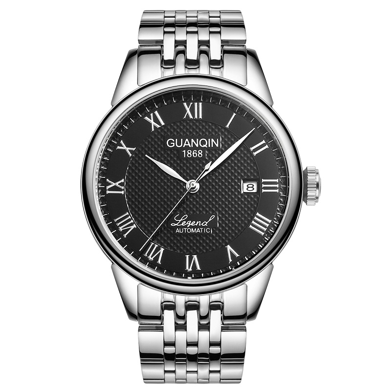 GUANQIN GQ008815 watches men luxury brand Le Locle Automatic Self-Wind Watch Date Rhinestones Steel Mechanical Relogio Masculino relogio masculino guanqin mens watches top brand luxury automatic self wind date watch men business steel mechanical wristwatch