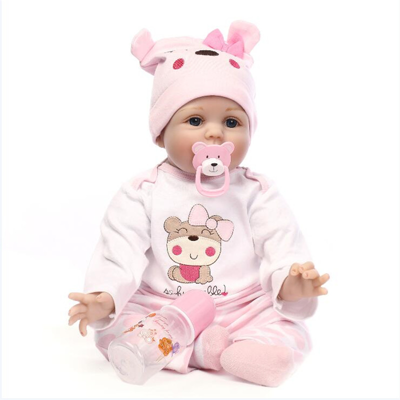 NPK COLLECTION Silicone Reborn Babies Sleeping Doll Toy for Girls Gifts,50 CM 20 Inch Baby Alive Boneca Doll Educational Toys npk collection 15 inch silicone reborn baby dolls fake baby doll silicone toys for girls gifts real looking baby alive bonecas