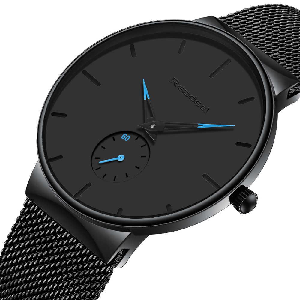 Męskie zegarki sportowe luksusowe Ultra cienki Casual wodoodporny zegarek sportowy stalowy zegarek kwarcowy dla mężczyzn zegarek meski reloj hombre