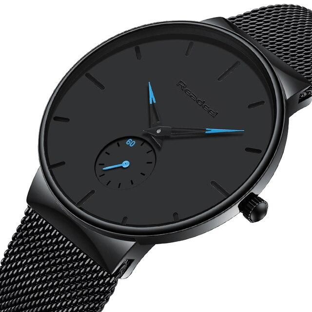 Relojes deportivos para hombre, marca superior, de lujo, ultrafino, Casual, impermeable, reloj deportivo de cuarzo, reloj de acero completo para hombre