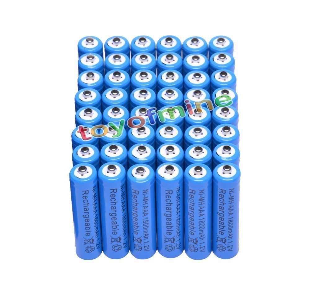 4/8/16/24/32/48 шт. AAA металл-гидридных или никель 1800 мА/ч, 1,2 V батареи оптом Никель гидрид Перезаряжаемые синий RC