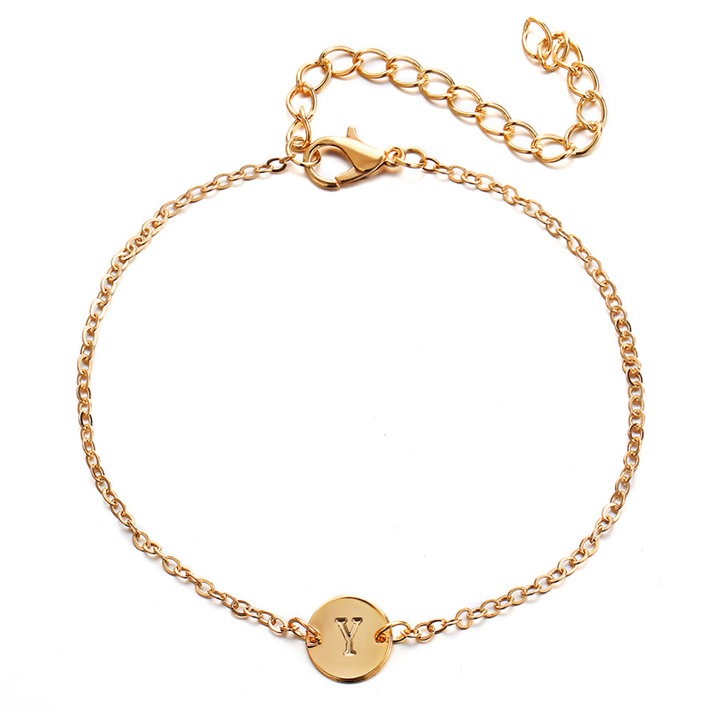 Fashion Bracelet Armband Letter Personality Jewelry Chain Couple Gift High-Street Women