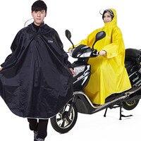 Qian men/women impermeáveis capa de chuva eletromobile/bicicleta sleeved chuva poncho grosso visable transparente capa capa chuva engrenagem capa