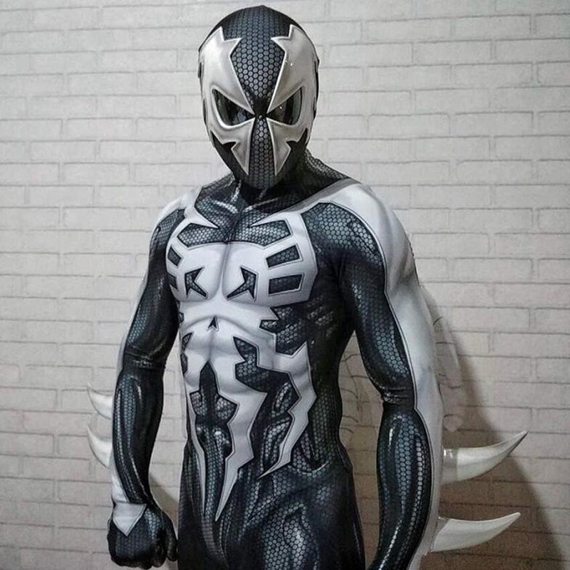 New Spider-man The Venom Mask Cosplay Edward Dark Venom Latex Masks Helmet Halloween Party Props Brinquedos Gift Novel In Design;