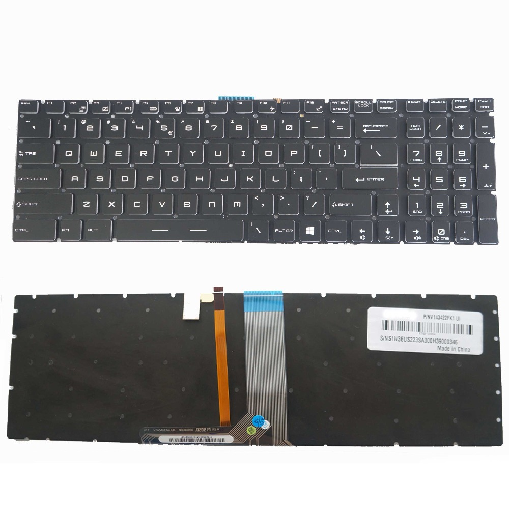 New UI Colorful Backlit Non backlight Keyboard for MSI GE72 GE62 WS60 GS60 GS70 GT72 GP62