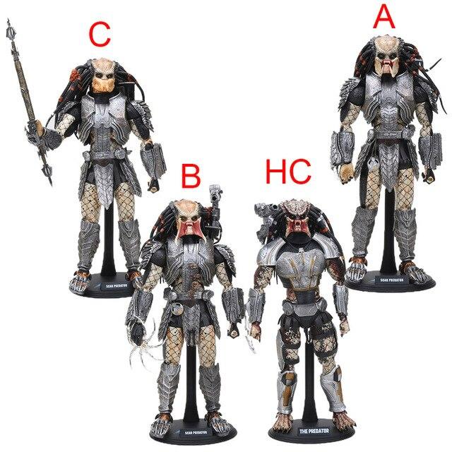 32 cm Tamanho Grande Cicatriz Predador AVP NECA Alien vs Predator 1/6 escala MMS190 Figura Collectible Modelo PVC Brinquedos