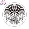 6 diseños imagen de la flor del esmalte de la plantilla del sello 3D Nail Art Stamping placas de acero inoxidable de manicura plantillas para uñas JH235