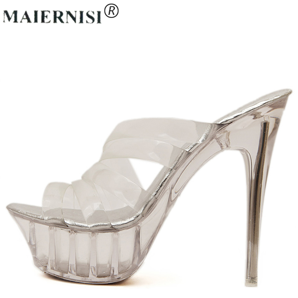 2017 summer Platform sexy clear pvc strappy sandal holiday Shoe for Women Large Size 43 42 9 High heel Big Pump Lady female Plus 2018 plus big size 32 43 orange black white rivets fashion sexy high heel summer females lady women wedges sandal slippers l715