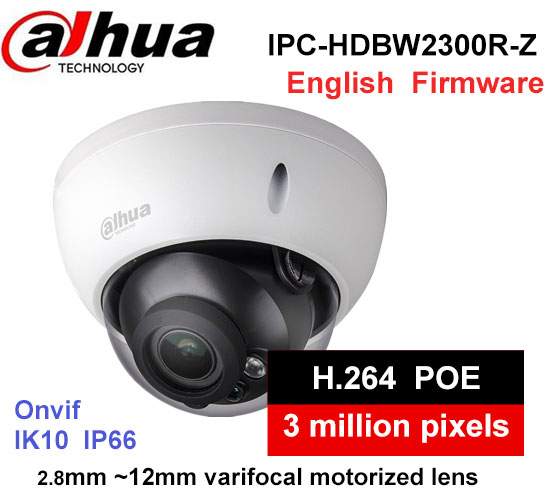 Dahua IPC-HDBW2300R-Z H2.64 MJPEG 2.8mm ~12mm varifocal motorized lens network camera 3MP IR50M IP camera wiht POE infant toddler girls dress lace cake dresses children princess backless tutu party gown 1st birthday vestido summer clothes 1 6y