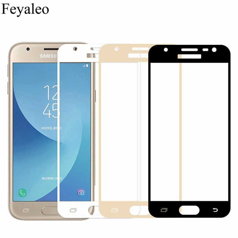 9H Full Cover Tempered Glass For Samsung Galaxy J3 2017 J330 J330F J330FN J330H Duos EU Version Case Screen Protector Protective