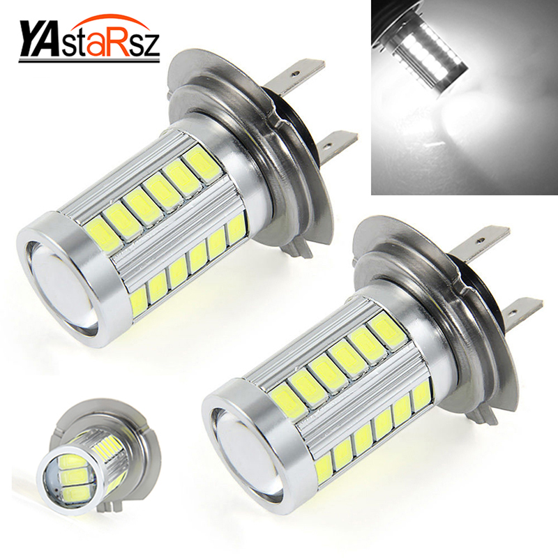 Car led H7 12W 12V Bulb Super Xenon White Fog Lights High Power Car Headlight Lamp parking Car Light Source DRL Car styling h4 led 5630 33smd super bright white car light source headlight drl fog lights bulb lampada led carro led 12v sp08ce