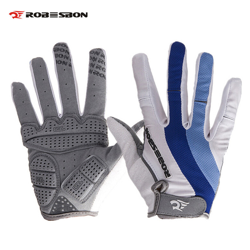 ROBESBON Full Finger Bike Gloves Outdoors Sport Winter Autumn Bicycle Cycling Non-Slip Breathable Gloves Warm Damping Gloves robesbon half finger cycling bicycle gloves