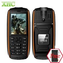 Vkworld камень V3 Max 5300 мАч батареи четверка телефон IP68 Водонепроницаемый 2.4 дюймов 21 ключи русская клавиатура LED flashlig мини телефон
