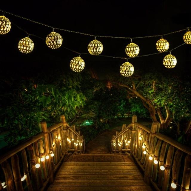 Nieuwe Vakantie Verlichting 10 LED/20 LED Marokkaanse Ballen String ...