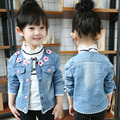 baby girl floral jeans jackets autumn clothes kids girls denim outerwear little princess clothing of girls jacket coat outfits