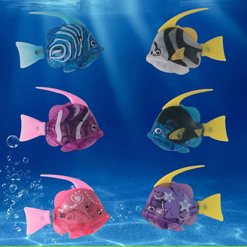 Classic Toys Well-Educated 6pcs/set Kids Toys Electric Fish Swimming Flashing In Water Deep Sea Lebao Fish Bathroom Pool Toy Christmas Gifts For Children