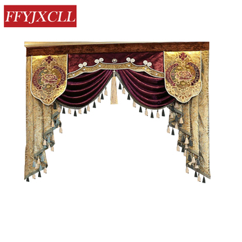 Estilo 1-estilo 8 Pelmet cenefa Europa de lujo decoración del hogar cenefa cortinas para sala de estar ventana cortinas para dormitorio cortina