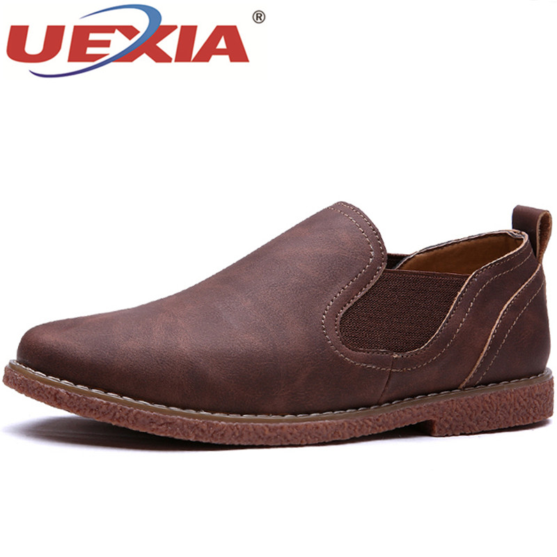 Brown En Casual Hommes D'hiver Mocassins Uexia red brown Mocassin Mode Outdoor Chaussures Cuir Zapatos Respirant Blue Training Pour TwHInIqdx
