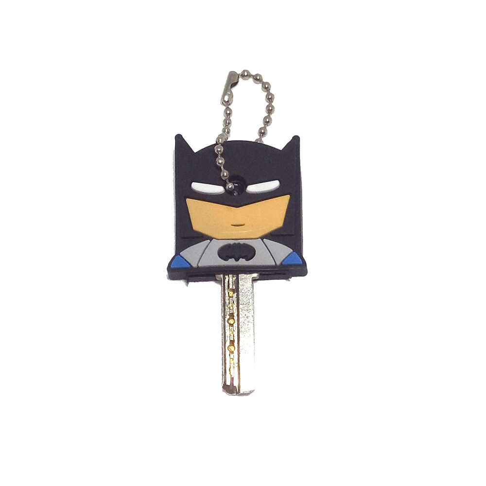 50 pcs tampa chave tampa bonito dos desenhos animados padrão de proteção de chave anel chave de silicone chave senhoras cap new presente exótico