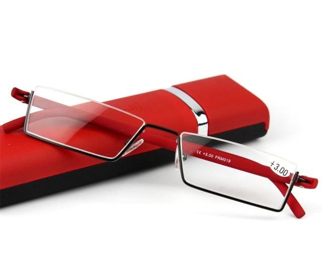 2016 moda tr90 leve meia-armação óculos de leitura homens mulheres óculos  oculos de grau ab6c080fc6