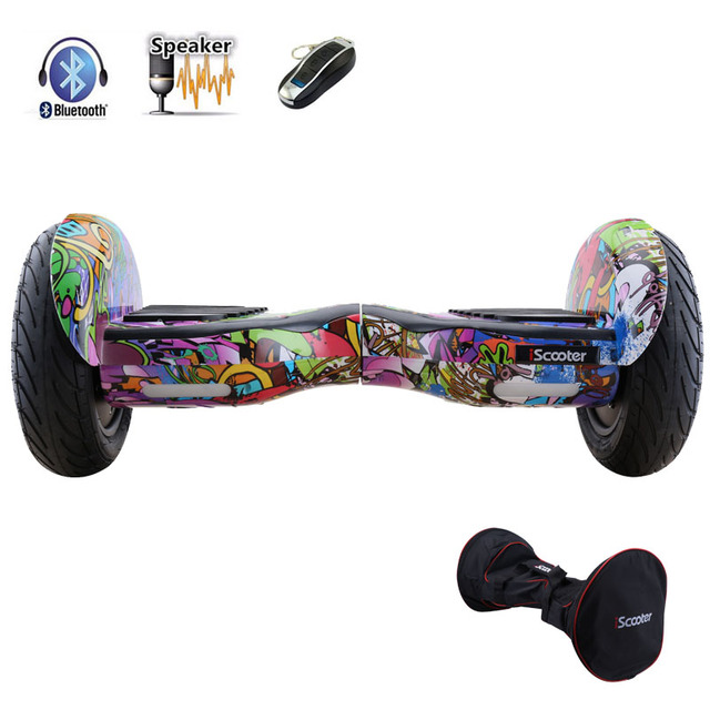 iScooter hoverboard 10 inch bluetooth two wheel smart self balancing scooter with speaker