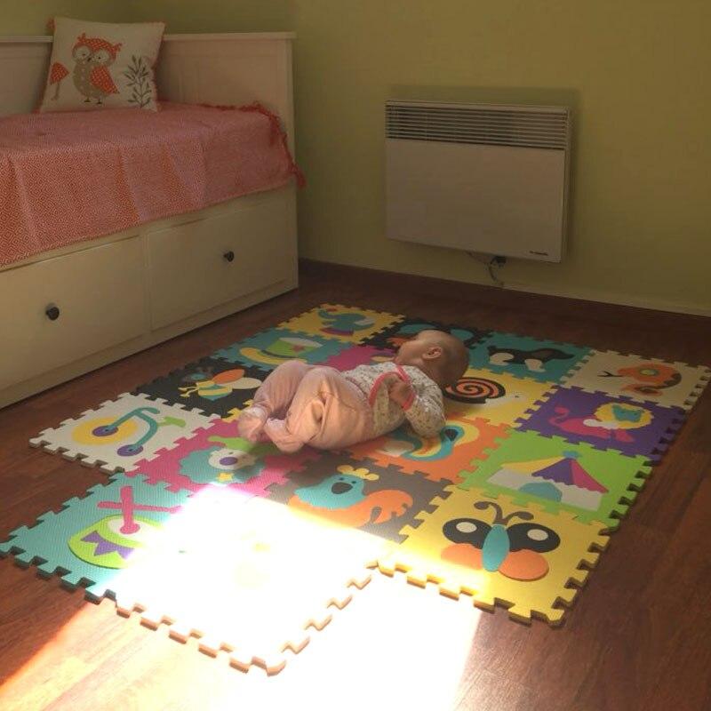 18 pièces tapis Animal de bande dessinée EVA mousse Puzzle tapis enfants Puzzles de sol tapis de jeu pour enfants bébé jouer Gym ramper tapis doux tuiles - 3