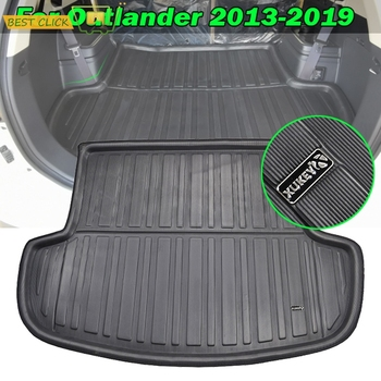 Fit For Mitsubishi Outlander 2013-2020 Rear Trunk Boot Liner Cargo Mat Tray Floor Carpet Mud Kick Protector 2016 2017 2018 2019 - discount item  45% OFF Interior Accessories