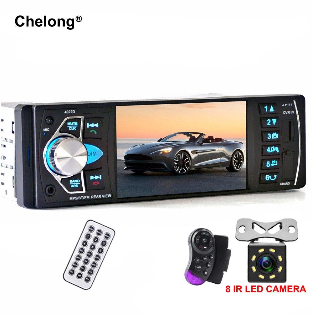 4022D 4.1 pouce 1 Din autoradio Auto Audio stéréo autoradio Bluetooth Support caméra de recul USB volant télécommande