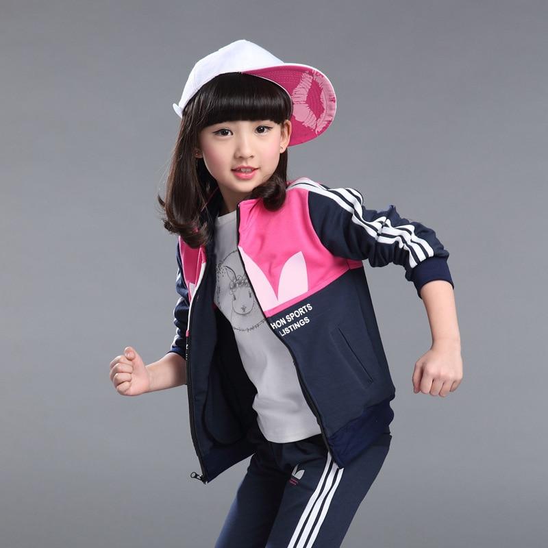 2017 Children Clothing Baby Girls Clothes School Uniform Sports Suit For Boy Girl Kids Tracksuit for Girls Winter Clothing Set seitokai no ichizon cosplay school boy uniform h008