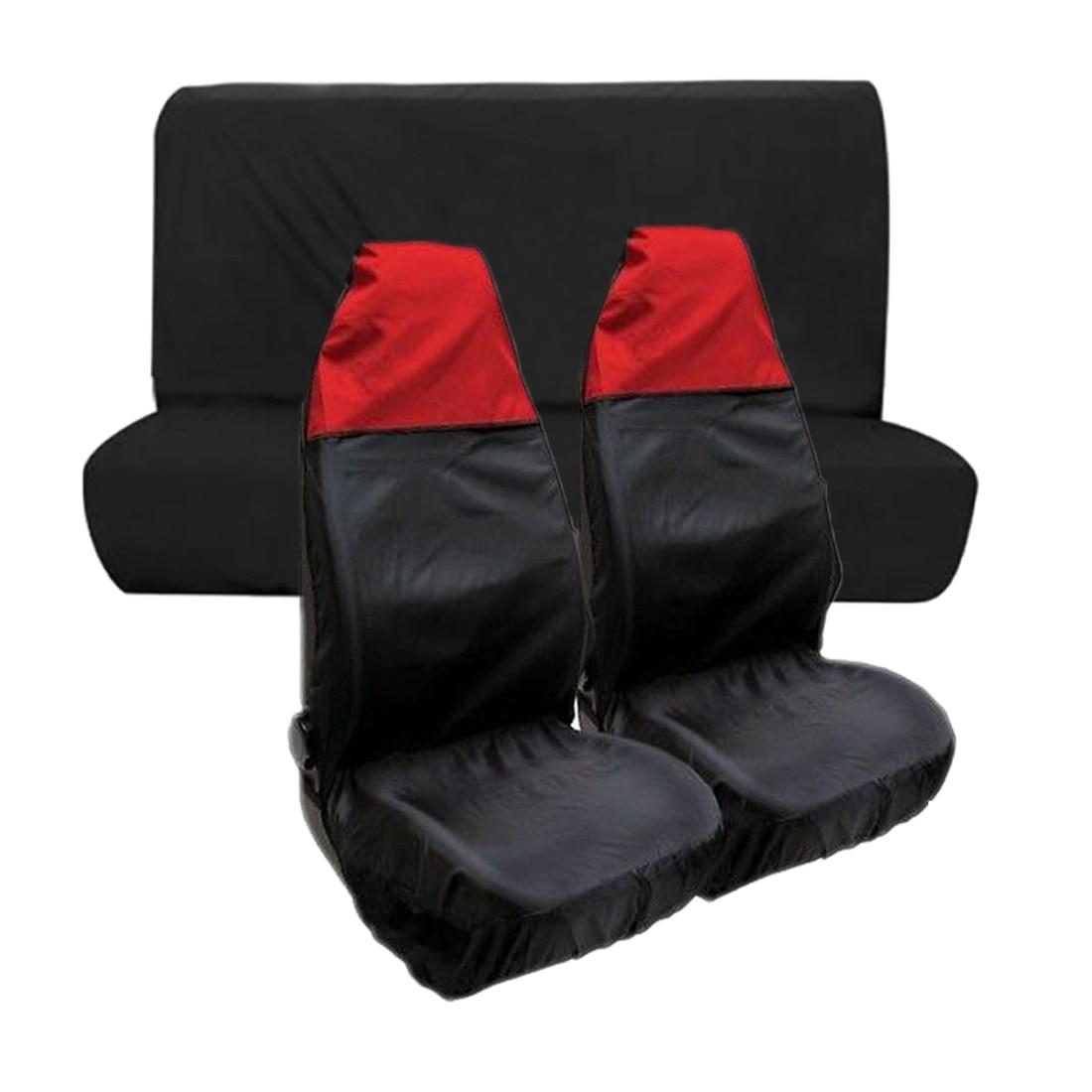 Suzuki Carry 2 x Fronts Heavy Duty Black Waterproof Seat Covers//Protectors