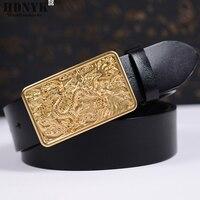 Epacket Free Shipping 2015 Hot Sale Men Casual 100 Genuine Cowskin Belt Men Pin Buckle Strap
