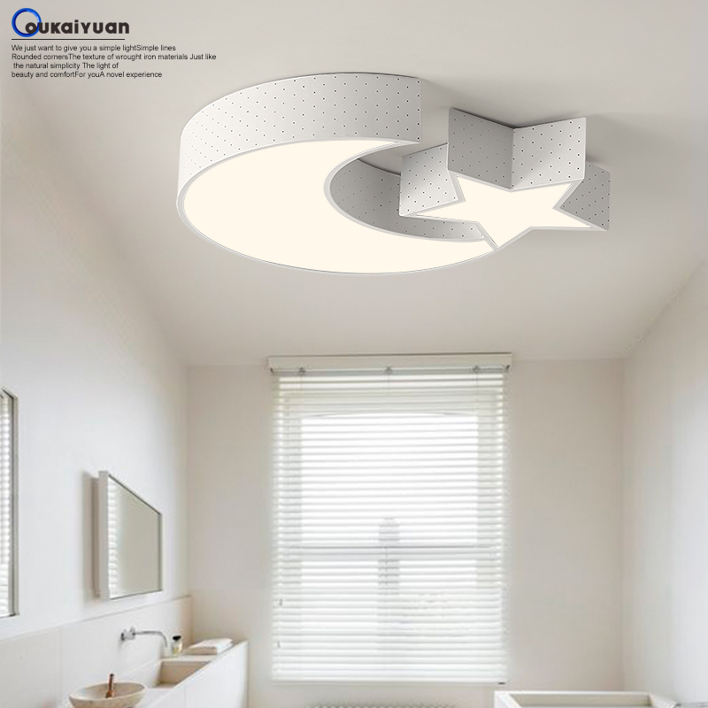 A1 Creative study Moon and stars Ceiling Lights simple modern living room lamps and ceiling lamp bedroom restaurant ET75