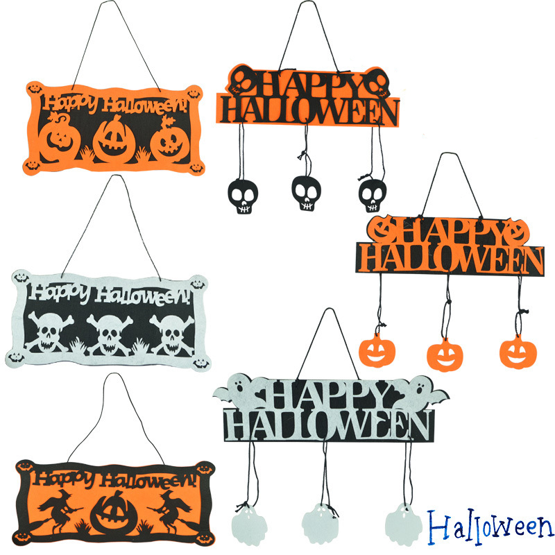 hot sale pumpkin 6size halloween decoration 2pcs happy halloween hanging hang tag window decoration pumpkin hanging strips - Halloween Decoration Sale