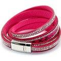 Serpentina Multicamadas Entrelaçamento Envoltório Multicolor Cristal Charme Cuff Bracelet Bangle Mulheres Handwork Marca Designer de Jóias Elegante