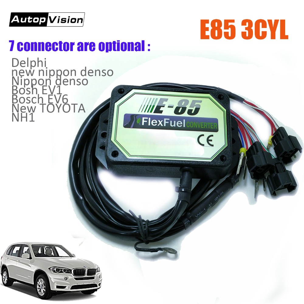 E85 conversion kit 3cyl with Cold Start Asst biofuel e85 ethanol car bioethanol converter vehicles 7