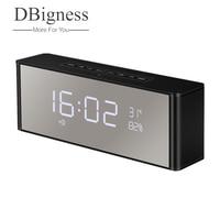 Dbigness Speaker Altavoz Bluetooth Speaker Wireless Stereo Caixa de som with Time Display Clock Alarm Speaker Portable Soundbar